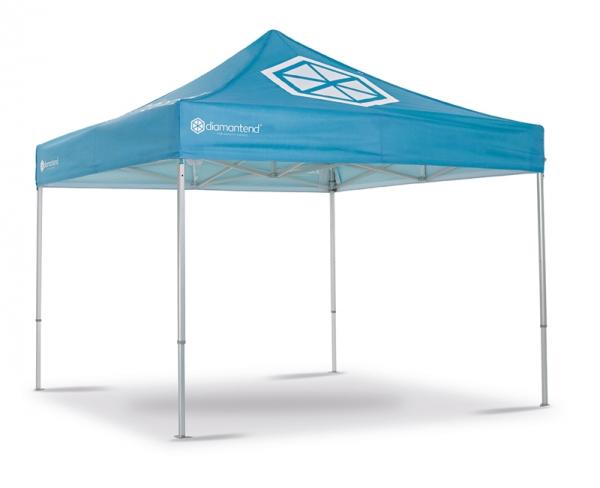 Folding tent blue