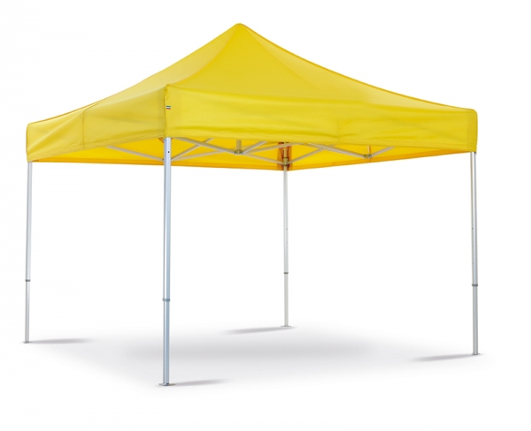 Folding tent white yellow