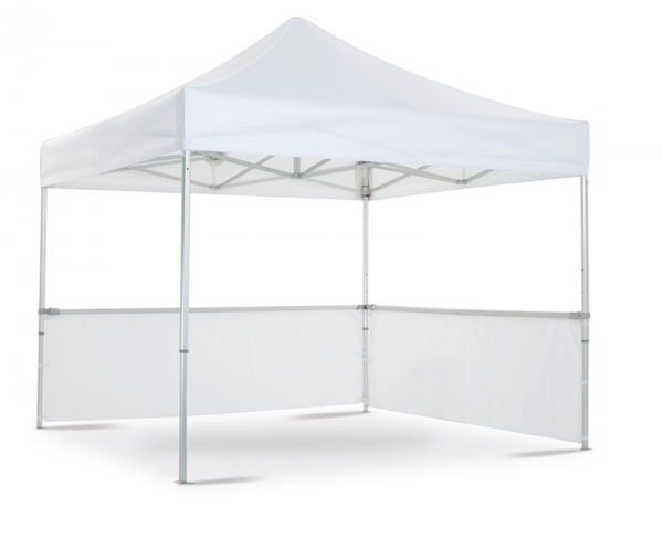 Folding tent with half-walls