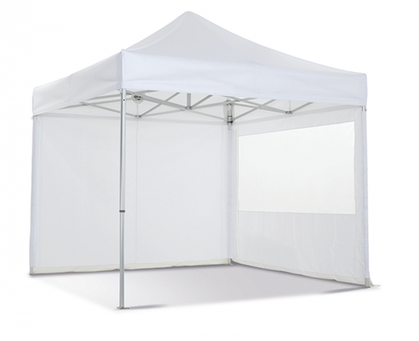 Folding tent with walls